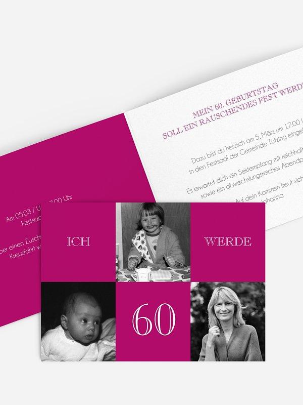 Einladung 60. Geburtstag Bildergeschichte