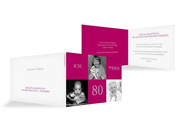 Einladung 80. Geburtstag Bildergeschichte