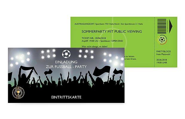 Partyeinladung Fußballticket