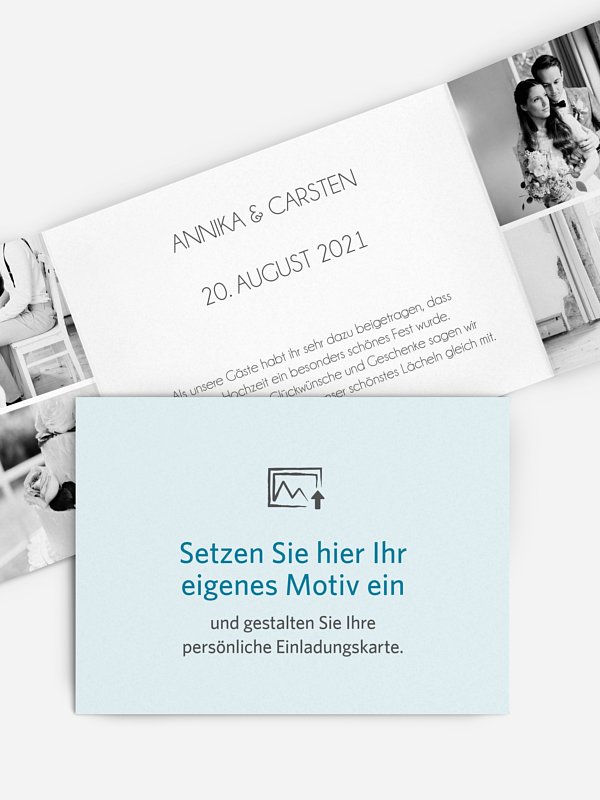 Dankeskarte Hochzeit Gestaltungsfreiheit
