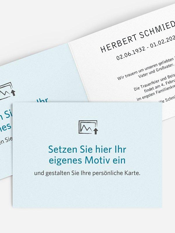 Trauerkarte Gestaltungsfreiheit