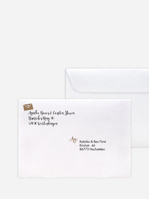 Briefumschlag Bedruckt Piktogramm