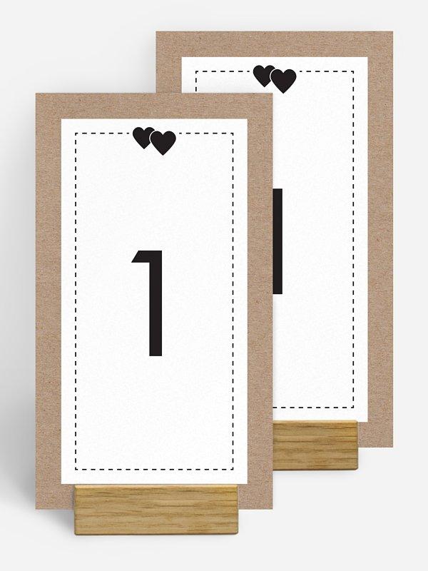 Tischnummer Piktogramm