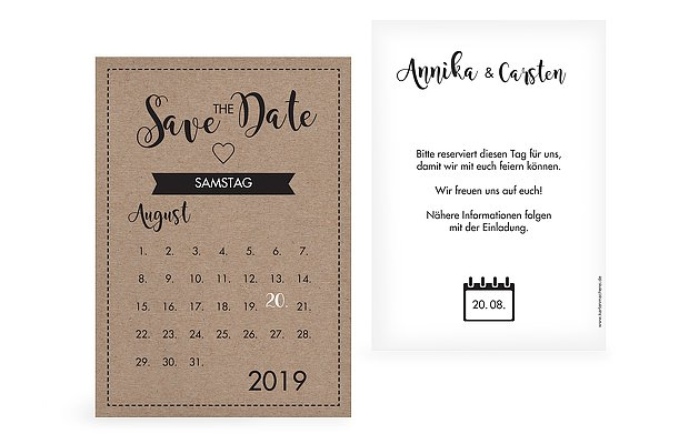 Save-the-Date Karte Piktogramm