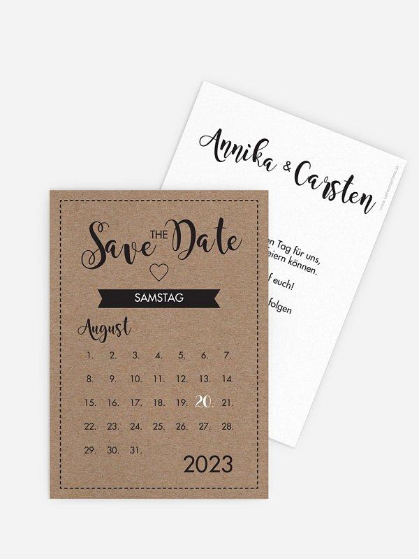 Save-the-Date Karte Piktogramm