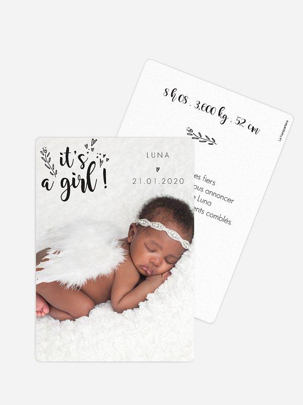 Faire-part naissance Little girl