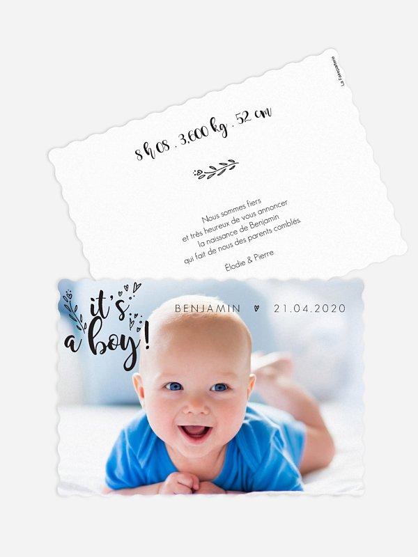 Faire-part naissance Little boy