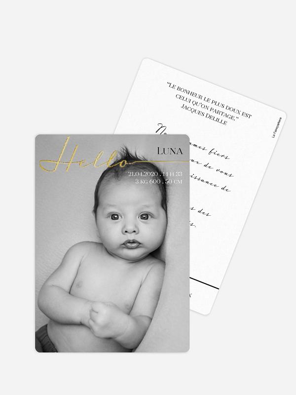 Faire-part naissance Hello baby
