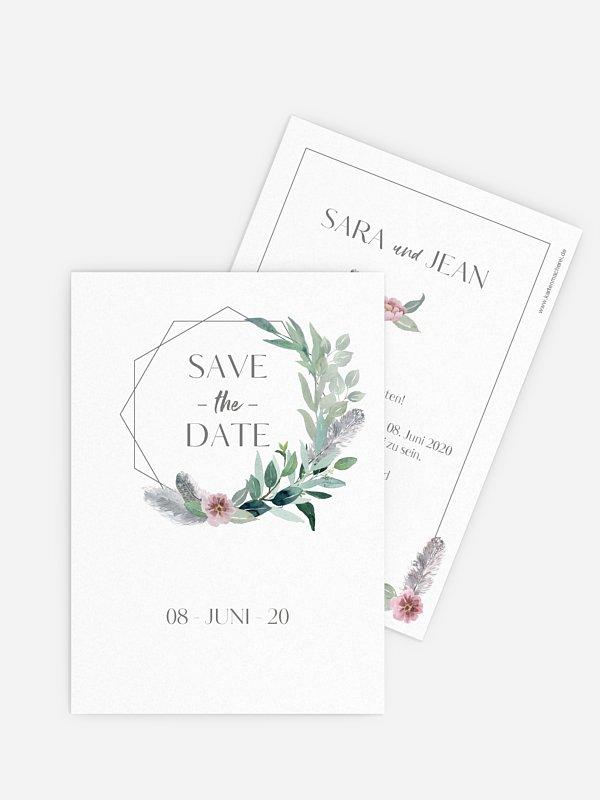 Save-the-Date Karte Boho Dreams