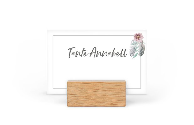 Tischkarte Hochzeit Boho Dreams