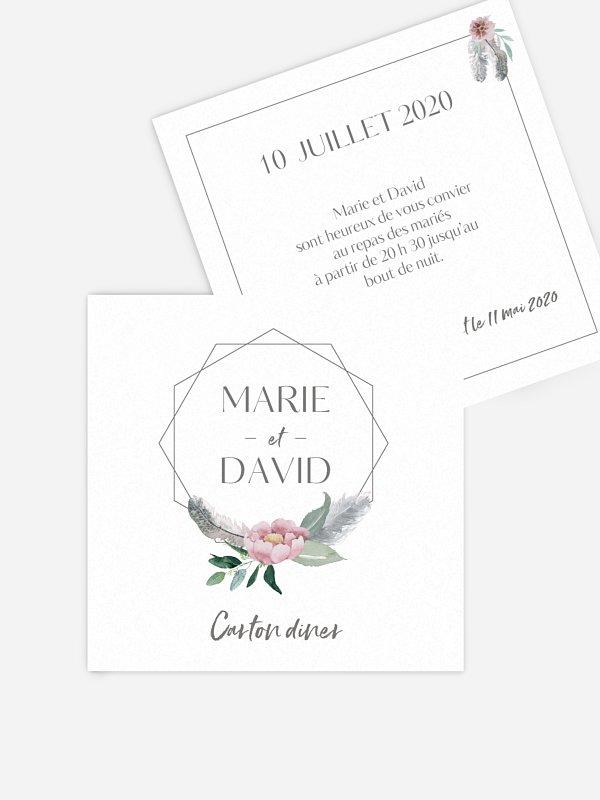 Carton d'invitation Boho Dreams