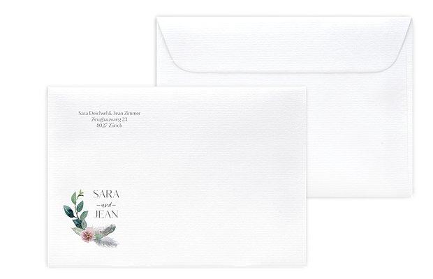 Briefumschlag mit Motiv Boho Dreams