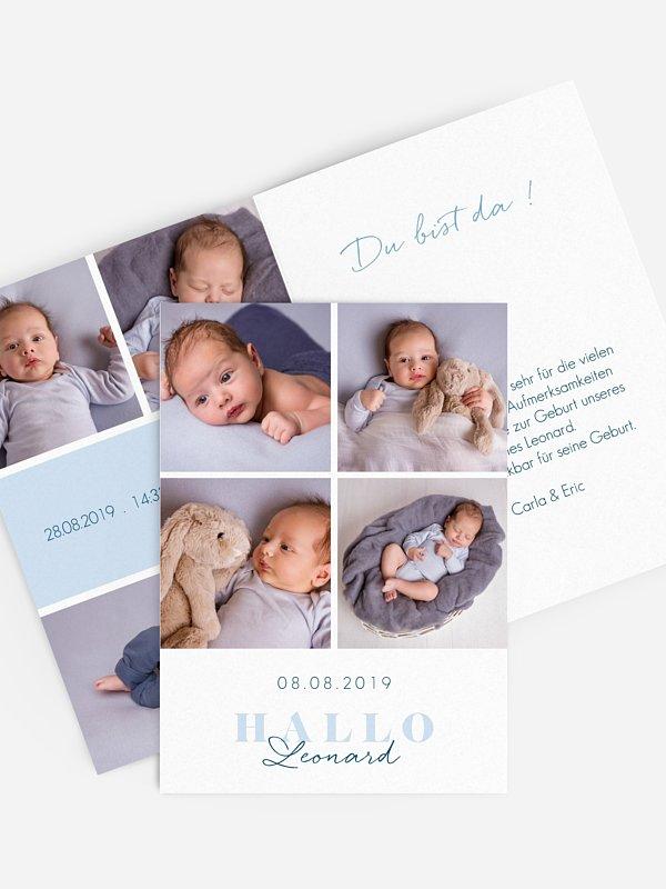 Geburtskarte Familienglück