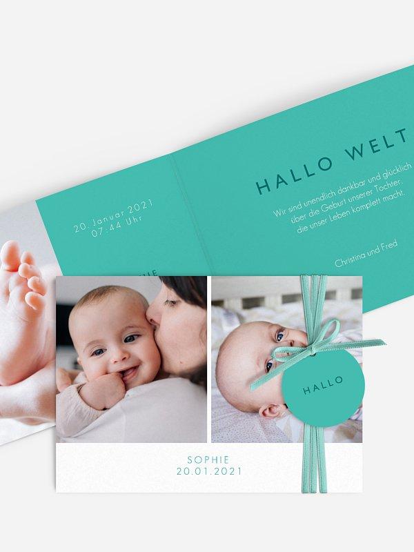 Geburtskarte Bambino