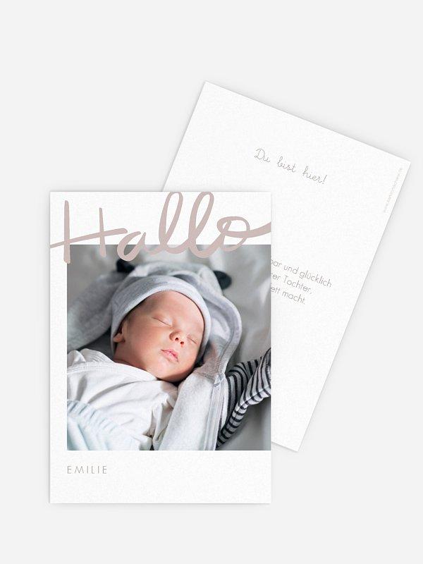 Geburtskarte Vollkommen