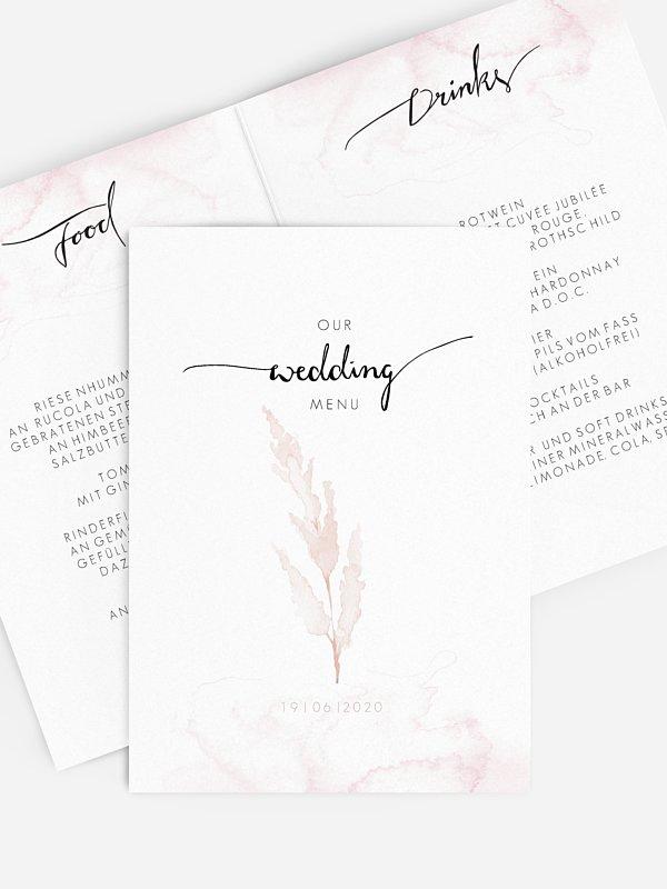 Menükarte Hochzeit Protea