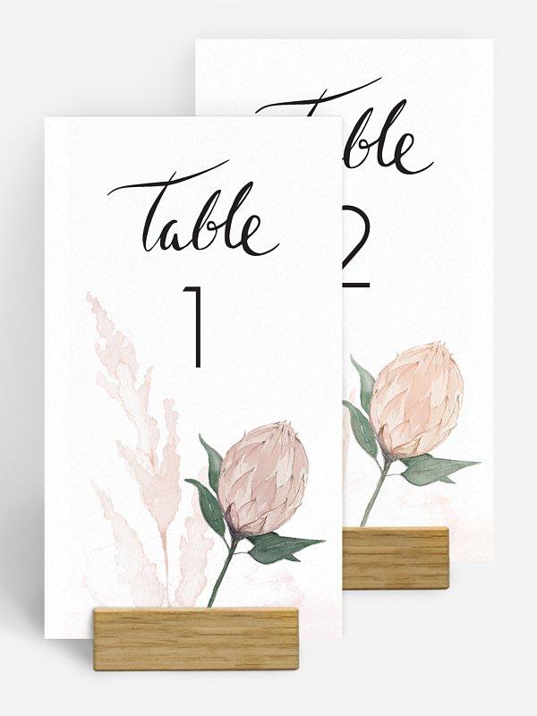 Tischnummer Protea