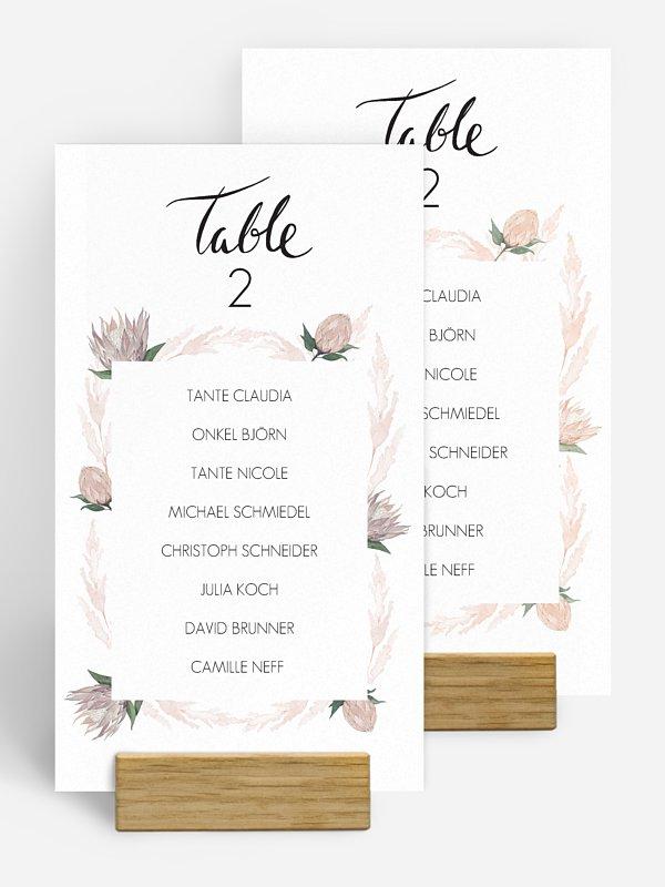 Gruppentischkarte Protea