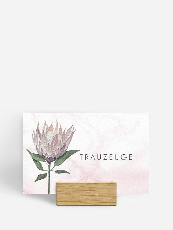 Tischkarte Hochzeit Protea