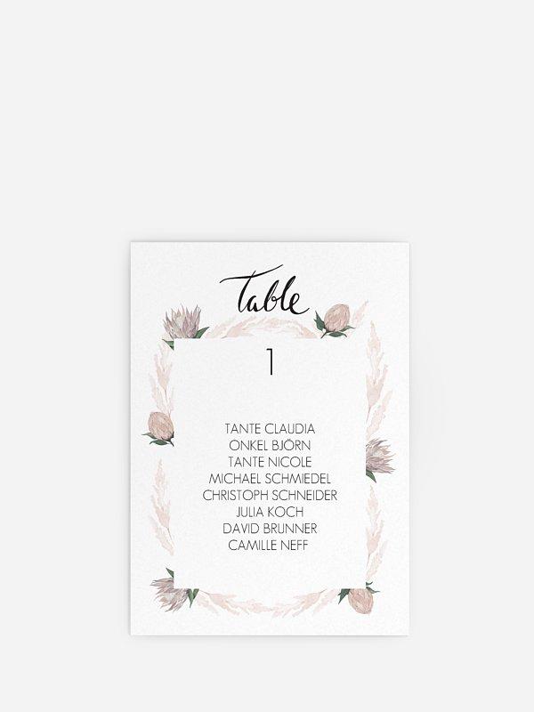 Sitzplan Kreativ Protea