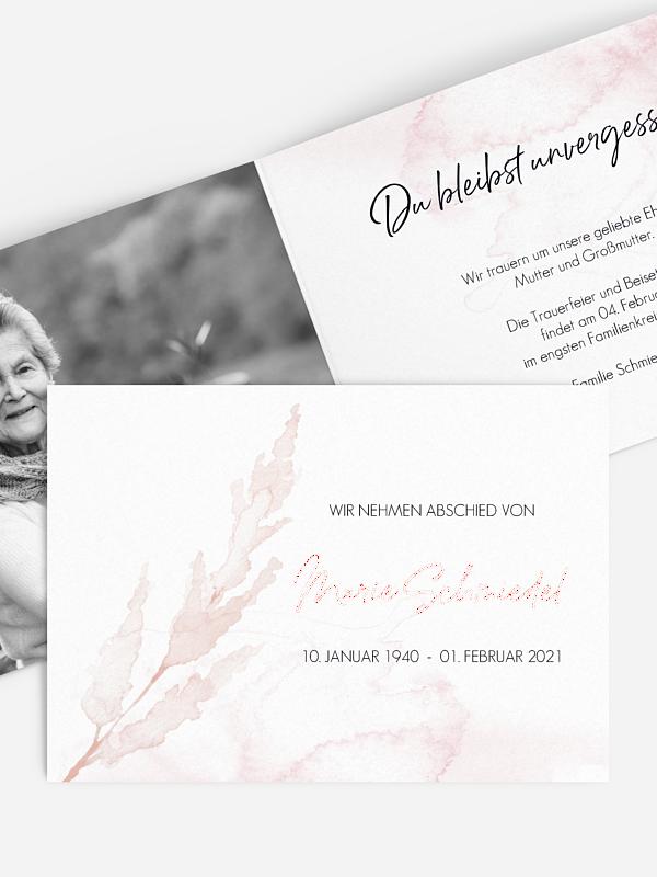 Trauerkarte Protea