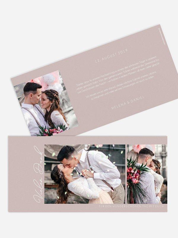 Dankeskarte Hochzeit Forever