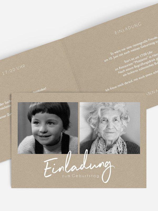 Einladung 90. Geburtstag Grosser Tag