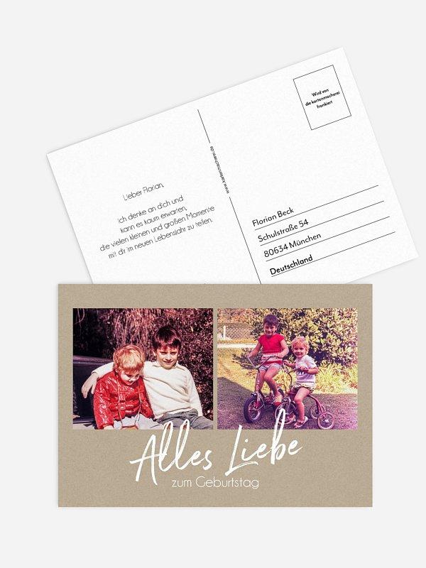 Postkarte Direktversand Grosser Tag
