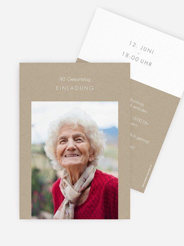 Einladung 90. Geburtstag Mein Weg