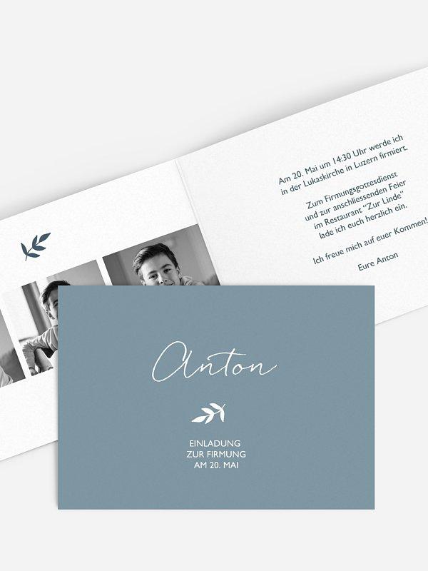Einladung Firmung Olivenzweig