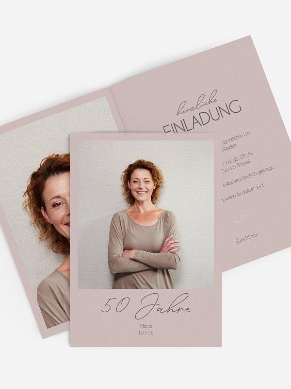 Einladung 50. Geburtstag Klarheit