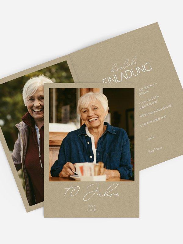 Einladung 70. Geburtstag Klarheit