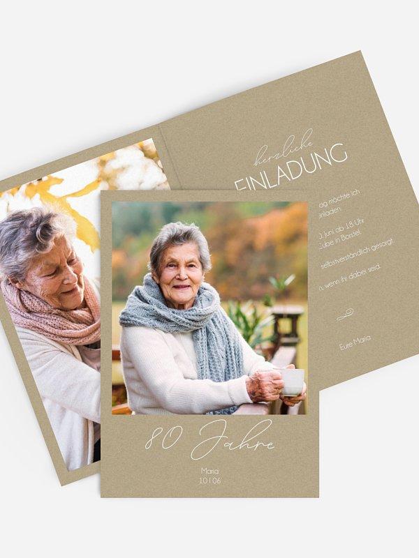 Einladung 80. Geburtstag Klarheit