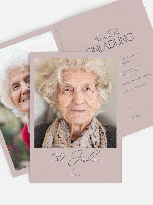 Einladung 90. Geburtstag Klarheit