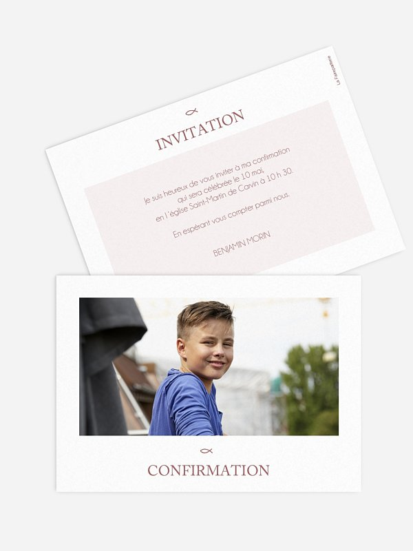 Invitation Confirmation Bénédiction