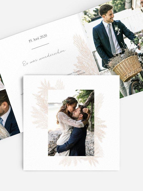 Dankeskarte Hochzeit Pampasgras