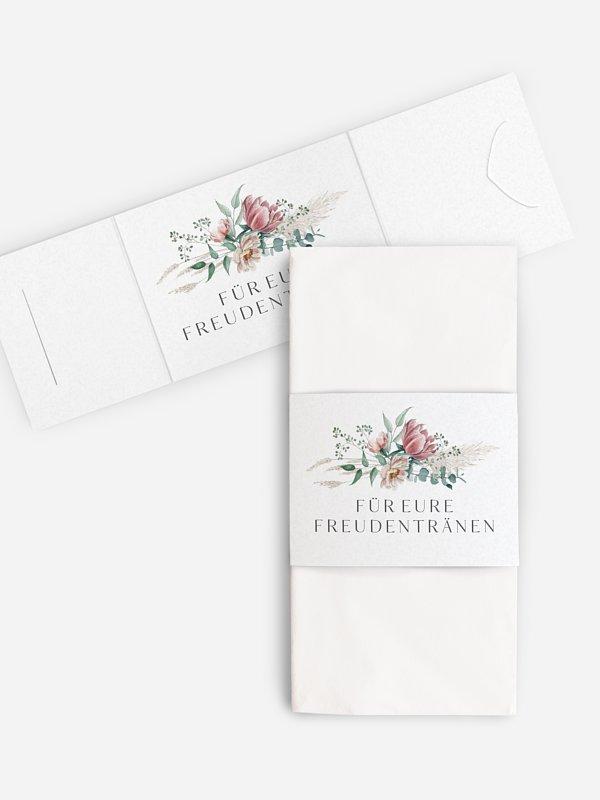 Freudentränen-Taschentücher Pampas & Peony
