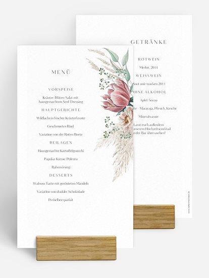 Menükarten Zur Hochzeit Professionell Und Individuell Drucken