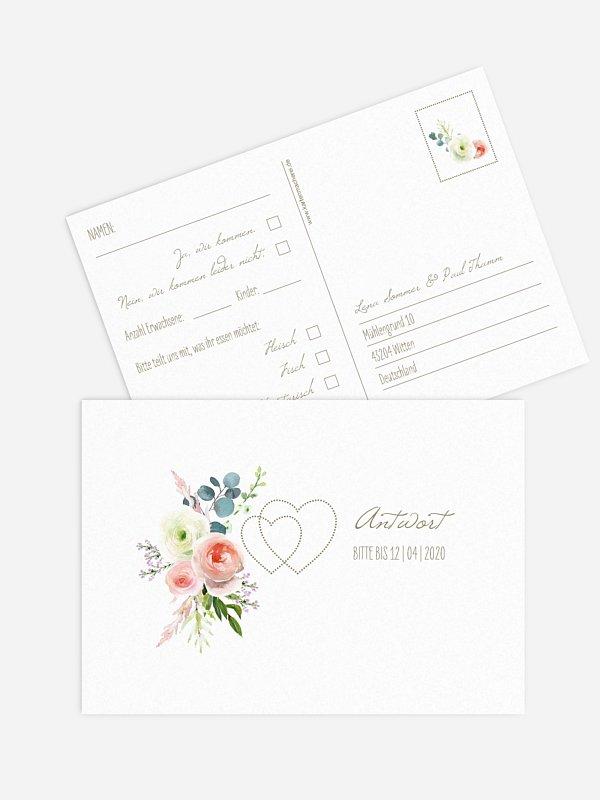 Antwortkarte Hochzeit Romanze