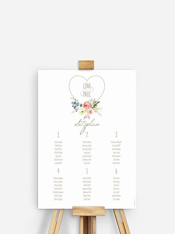 Sitzplan Plakat Romanze