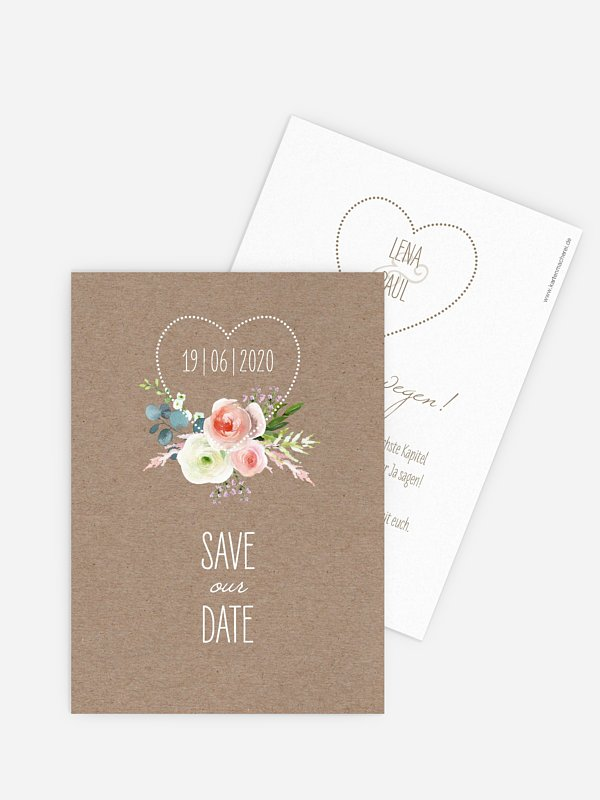 Save-the-Date Karte Romanze