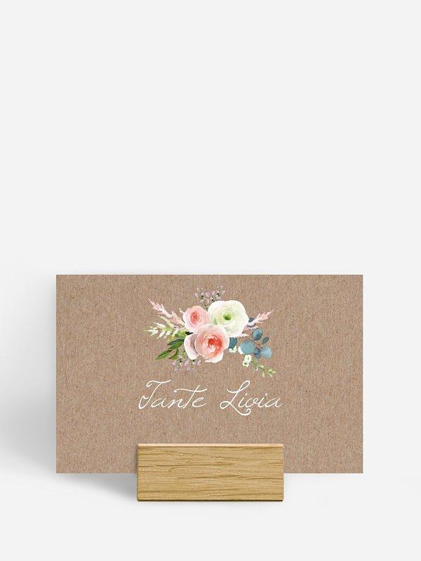 Tischkarte Hochzeit Romanze