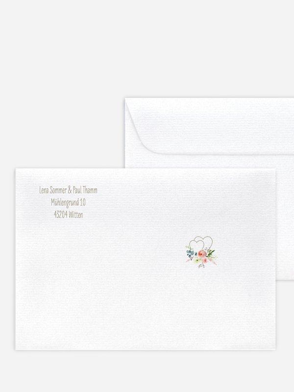 Briefumschlag mit Motiv Romanze