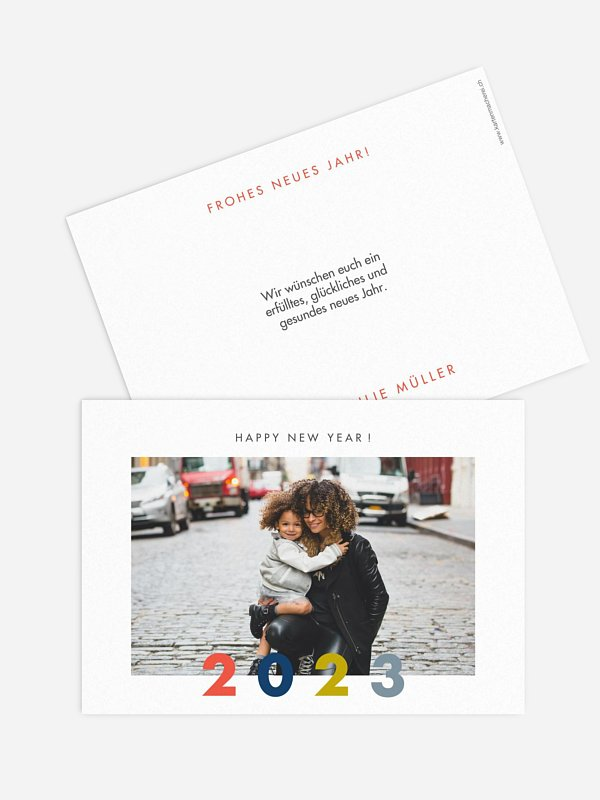 Neujahrskarten Glücksgrüsse