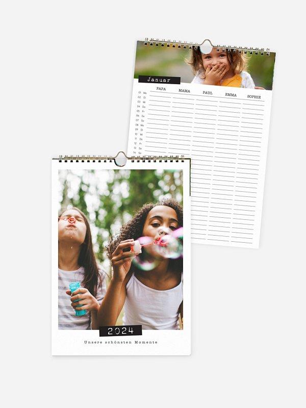 Familienkalender Big Times 5 Spalten