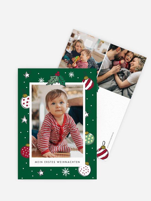 Geburtskarte Babys 1st Christmas