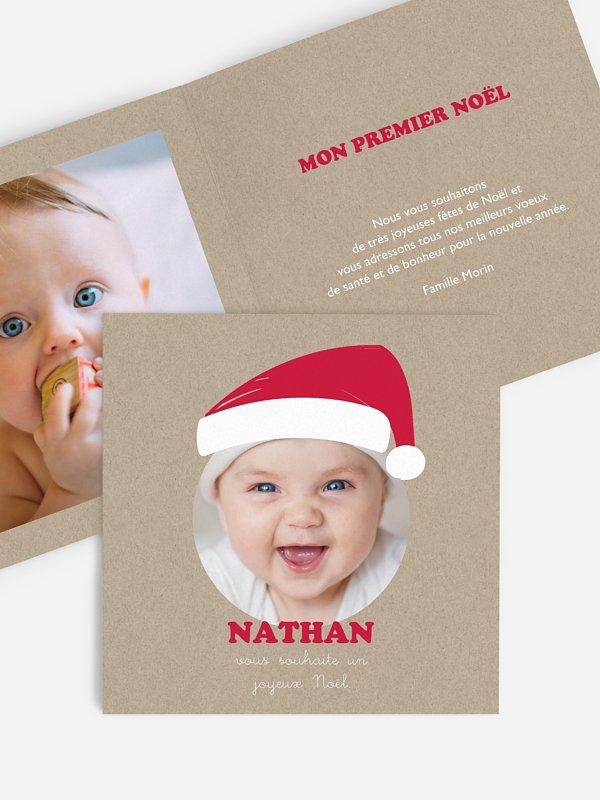 Faire-part naissance Bébé Noël