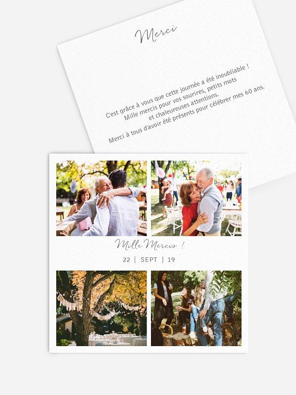 Carte remerciement anniversaire Multi-photos I