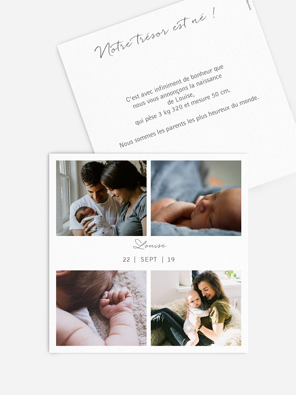 Faire-part naissance Multi-photos I