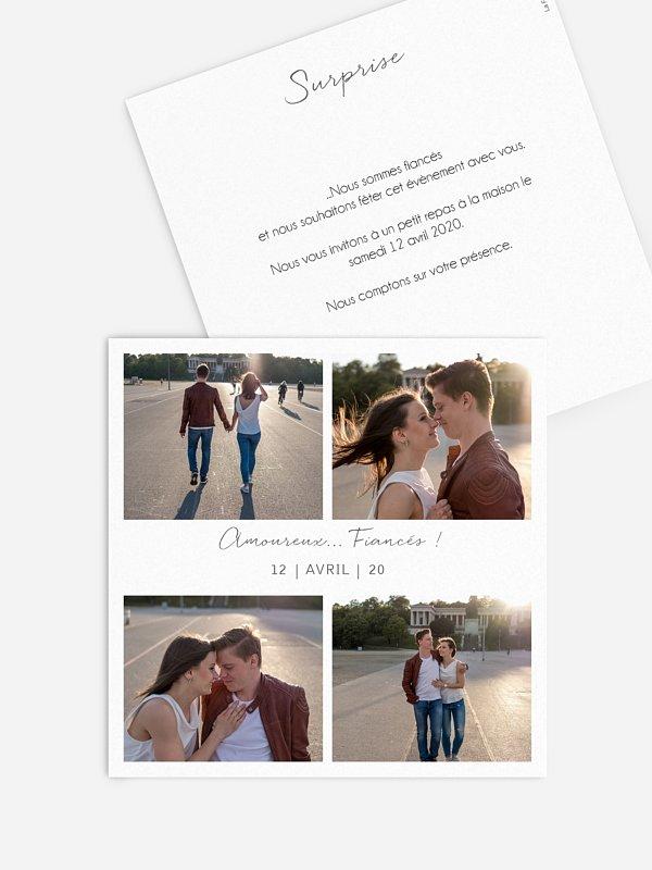 Faire-part fiançailles Multi-photos I